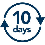 10営業日以内で納品